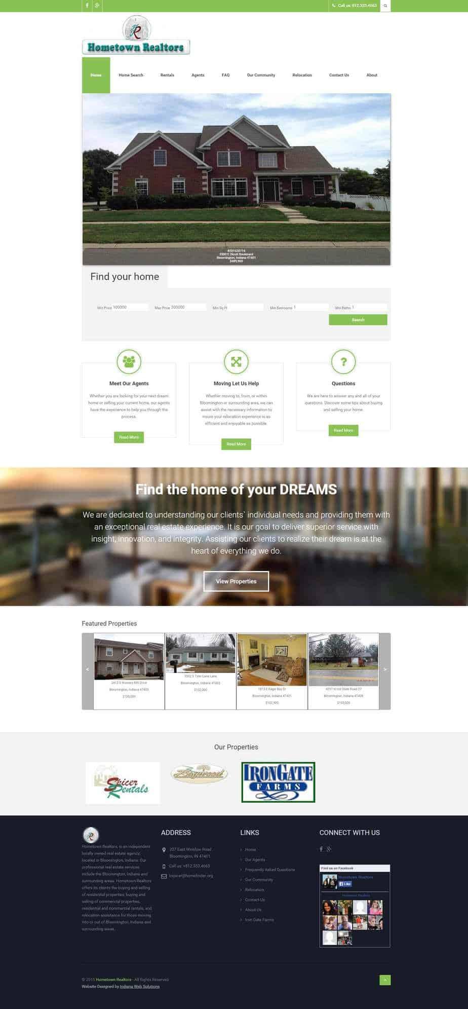 hometown realtors new website