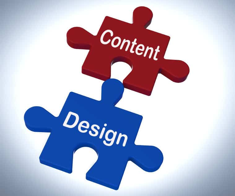 Gather content for a website