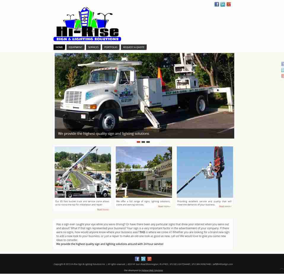 Hi Rise Sign and Lighting Solutions new website